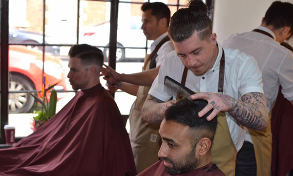 Aaron Hair Masters Barber Cutting Hair in Stony Stratford