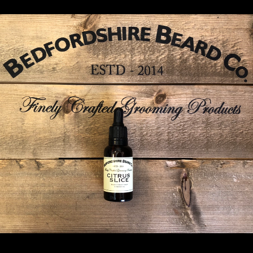 Citrus slice beard oil